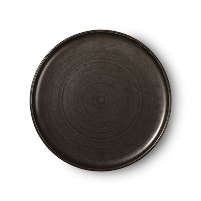HK Living | Kyoto ceramics: rustic dinner plate black | House of Orange Melbourne