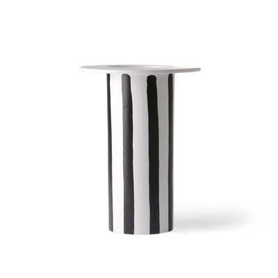 HK Living | Ceramic Vase Black/White Striped | House of Orange Melbourne