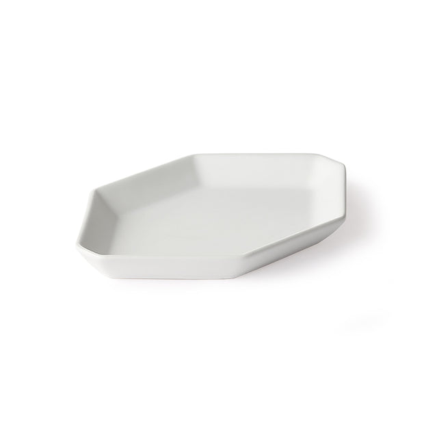 HK Living | Athena Ceramics: Octagonal Appetizer Plate White Matte | House of Orange Melbourne