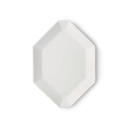 HK Living | Athena Ceramics: Octagonal Side Plate White Matte | House of Orange Melbourne