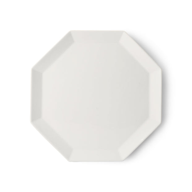HK Living | Athena Ceramics: Octagonal Dinner Plate White | House of Orange Melbourne