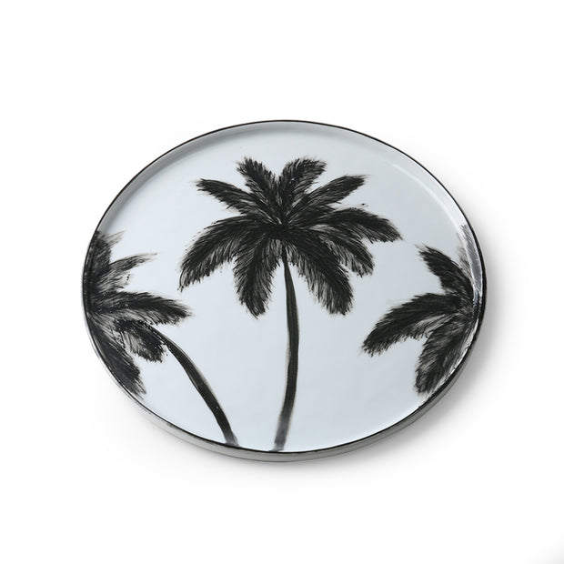HK Living | Bold & Basic Ceramics: Porcelain Dinner Plate Palms | House of Orange Melbourne