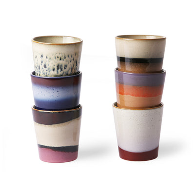 HK Living | Ceramic 70's Mugs (set of 6) | House of Orange Melbourne