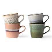 HK Living | Ceramic 70's Cappuccino Mugs (set of 4) | House of Orange Melbourne