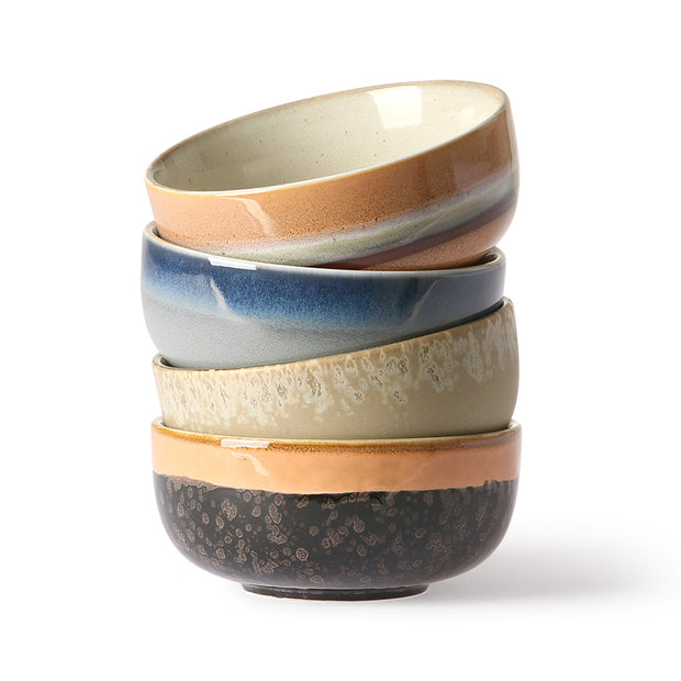 HK Living | Bowls | 70's Ceramic Medium (set of 4) | HK Living | House of Orange Melbourne
