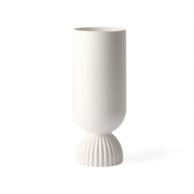 HK Living | Ceramic Flower Vase Ribbed Base White | House of Orange Melbourne