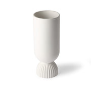 HK Living | PRE ORDER | Flower Vase | Ceramic Ribbed Base White | HK Living | | House of Orange Melbourne