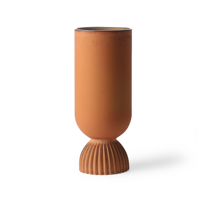 HK Living | Ceramic Flower Vase Ribbed Base Rustic | House of Orange Melbourne