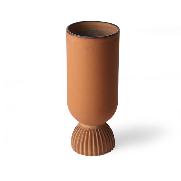 HK Living | Flower Vase | Ceramic Ribbed Base Rustic | HK Living | House of Orange Melbourne
