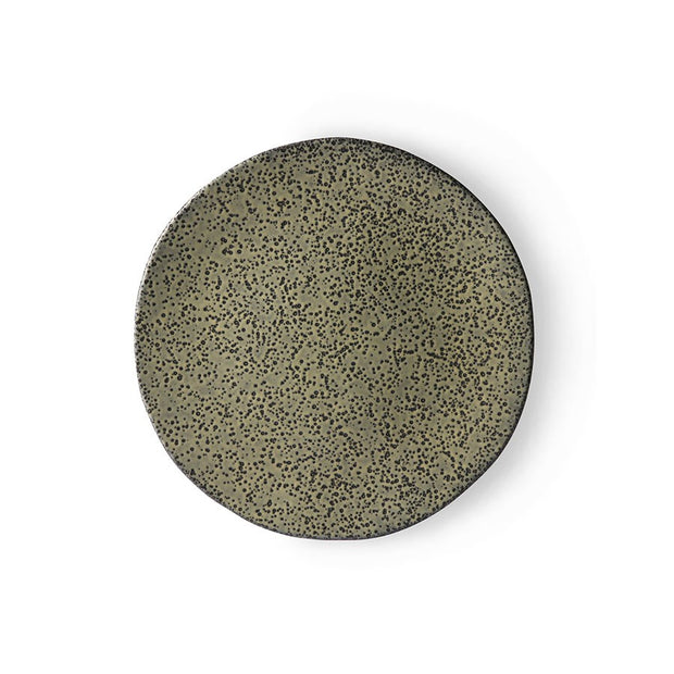 HK Living | Speckled Basic Ceramics: Side Plate Green | House of Orange Melbourne