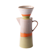 Ceramic 70's Coffee Pot with Filter