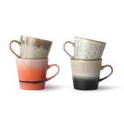 ceramic 70's americano mugs (set of 4)
