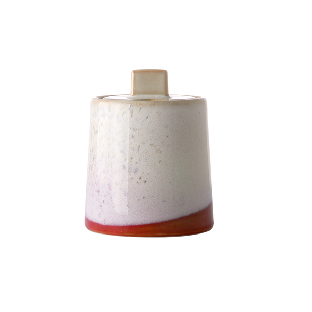 ceramic 70's milk jug & sugar pot: frost