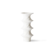 matt white porcelain vases (set of 4)