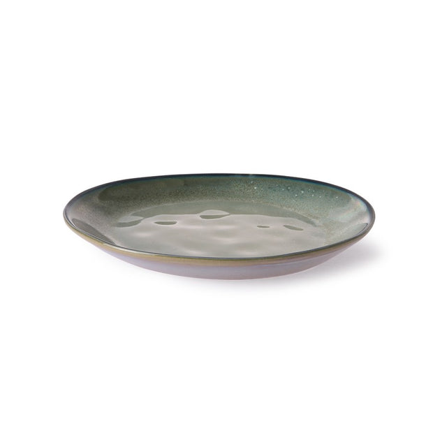 home chef ceramics: side plate grey/green