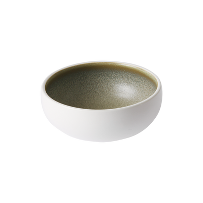 home chef ceramics: bowl white/green