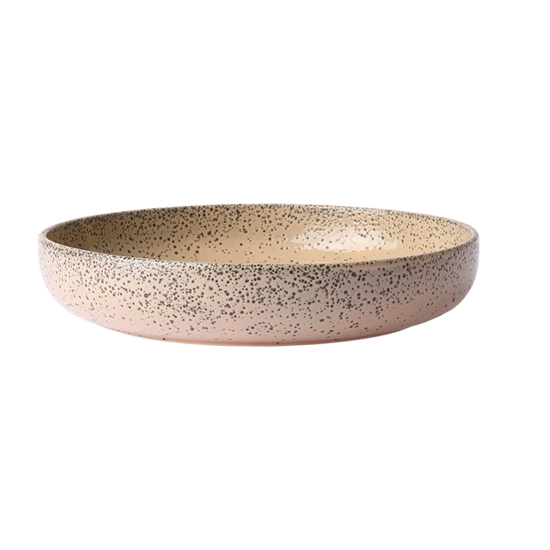 gradient ceramics: deep plate taupe (set of 2)
