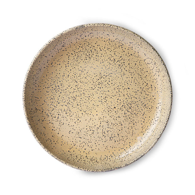 gradient ceramics: deep plate peach (set of 2)