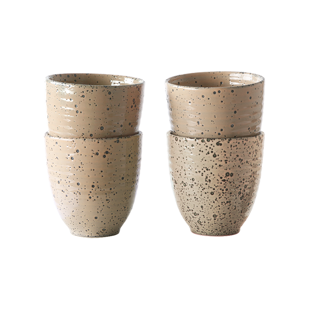 gradient ceramics: mug taupe (set of 4)