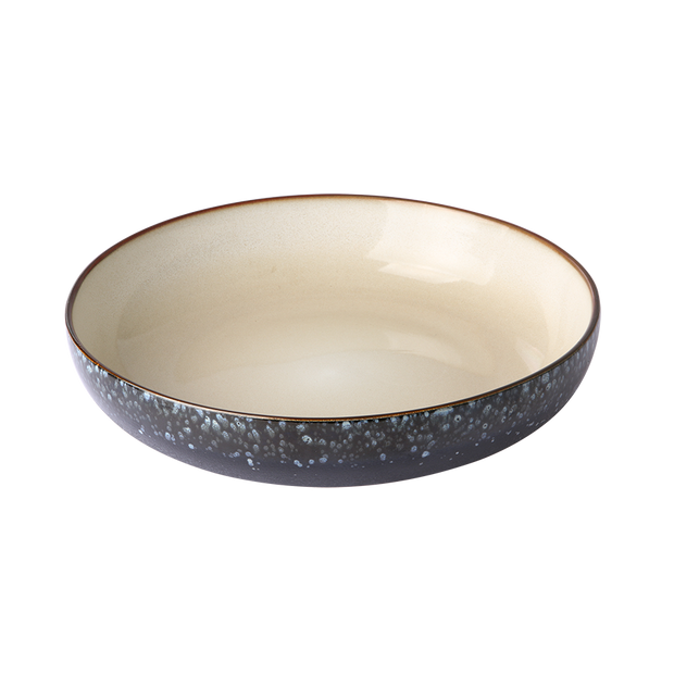 ceramic 70's salad bowl: galaxy