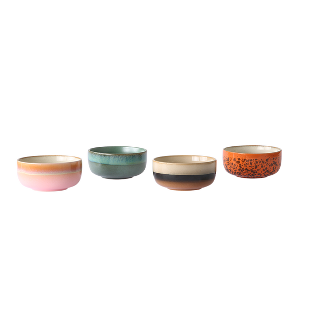 ceramic 70's dessert bowls (set of 4)
