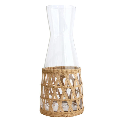 Wicker glass jug