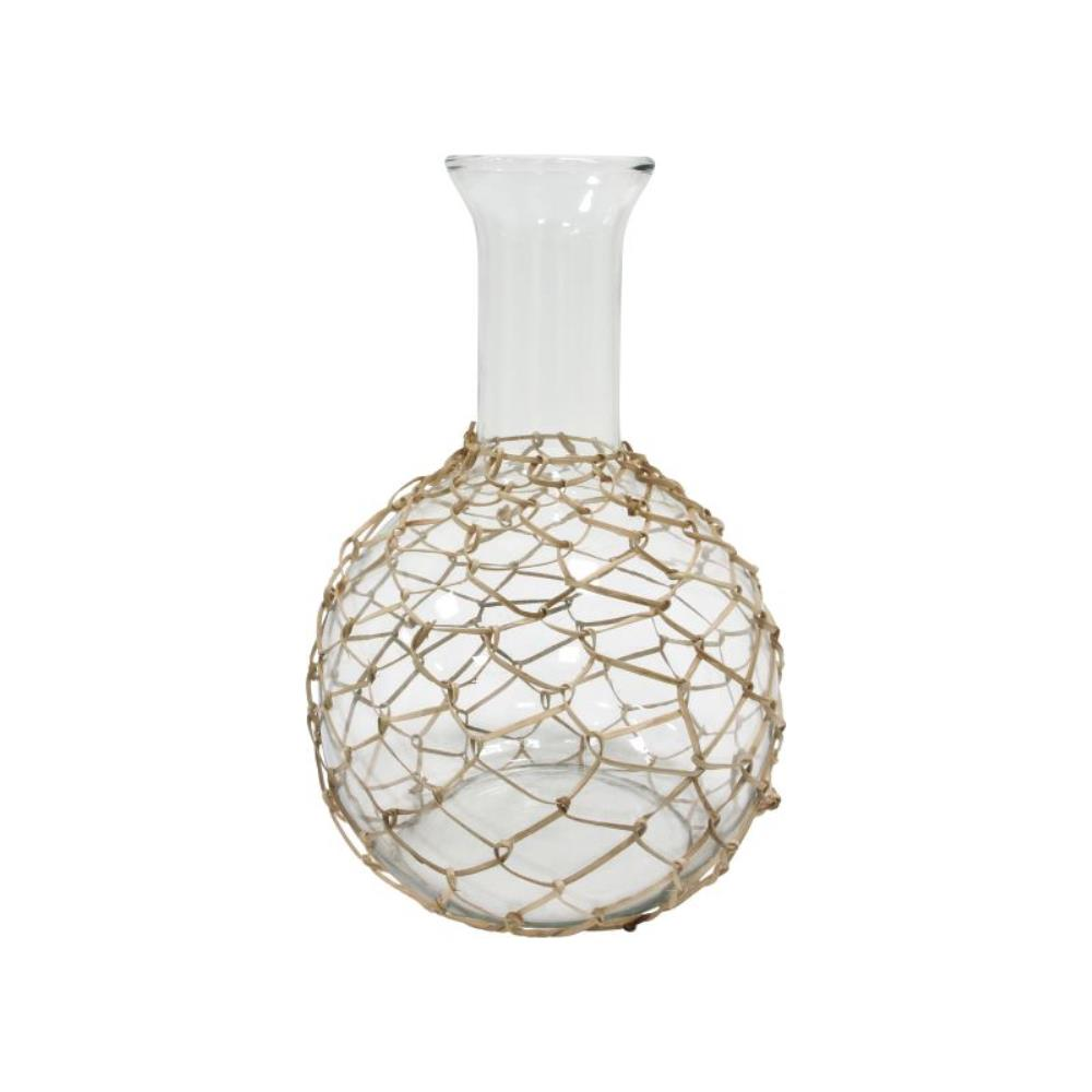 Wicker glass carafe