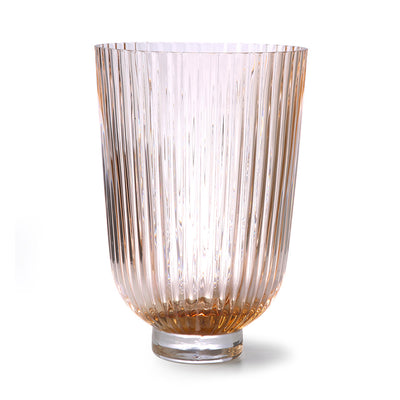 HK Living | Glass Vase Ribbed Peach | House of Orange Melbourne