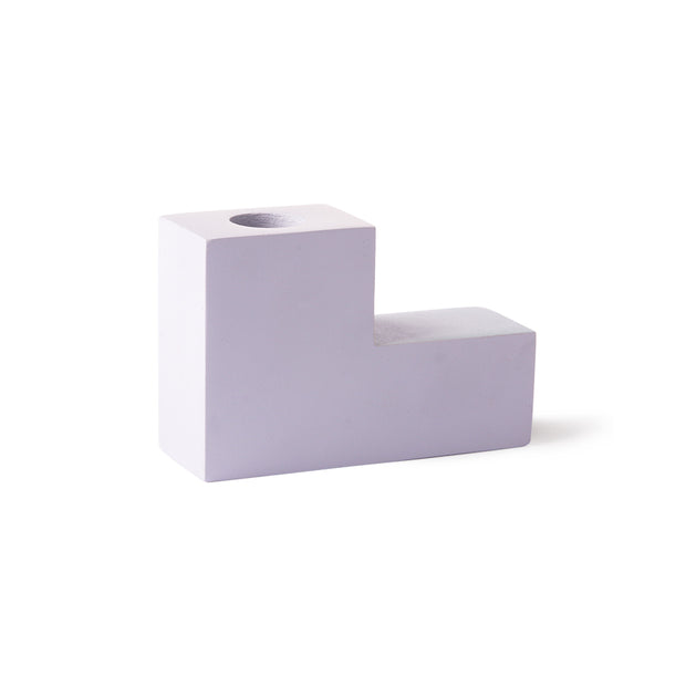HK Living | Concrete Stairs Candle M Lilac | House of Orange Melbourne