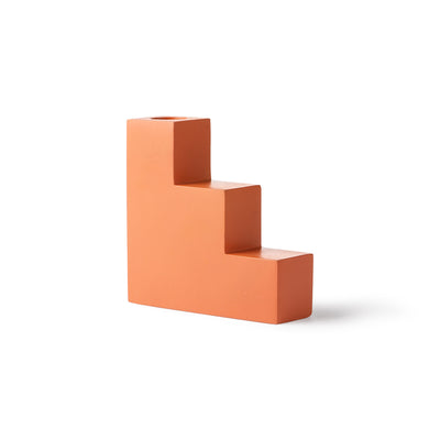 HK Living | Candle Holder | Concrete Stairs Large Orange | HK Living | House of Orange Melbourne