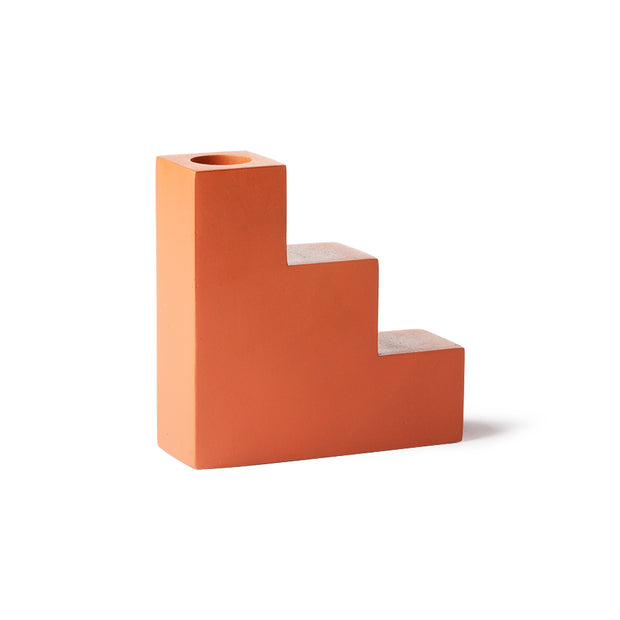 HK Living | Concrete Stairs Candle L Orange | House of Orange Melbourne