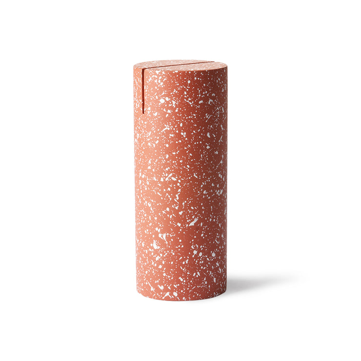 HK Living | Photo Stand | Terrazzo Cylinder Red | HK Living | House of Orange Melbourne