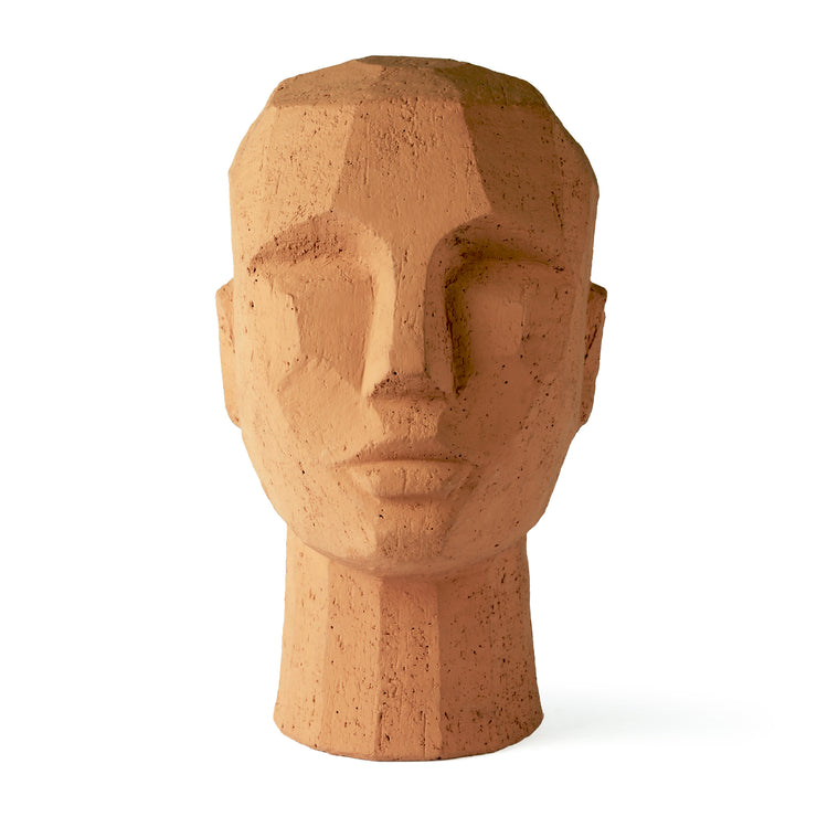 HK Living | Sculpture | Abstract Head Terracotta | HK Living | House of Orange Melbourne
