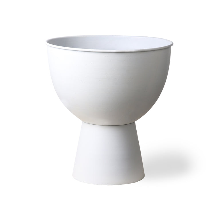 HK Living | Flower Pot on Base | Metal Rustic White Medium | HK Living | House of Orange Melbourne