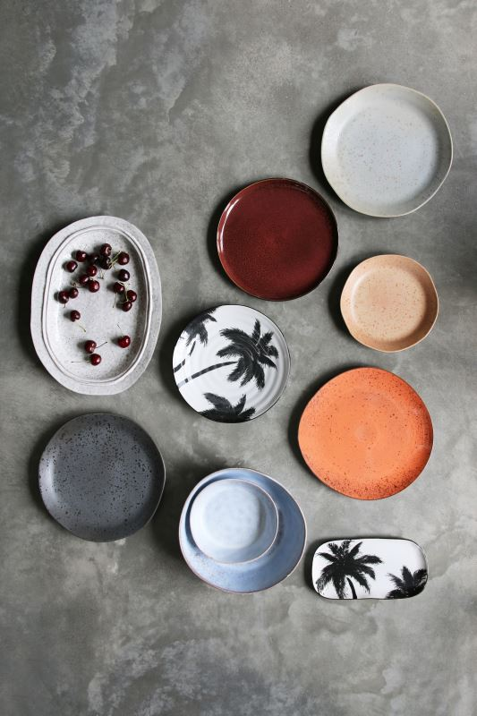 HK Living | Bold & Basic Ceramics: Organic Breakfast Plate Grey | House of Orange Melbourne