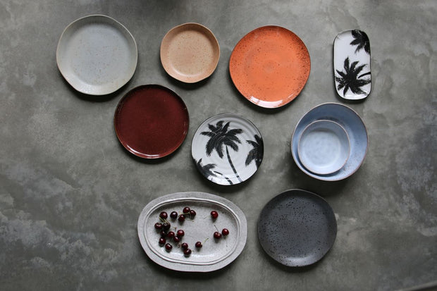 HK Living | Serving Plate | Jungle Porcelain Palms | HK Living | House of Orange Melbourne