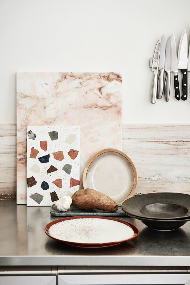 HK Living | Ceramic 70's Side Plate: Earth | House of Orange Melbourne