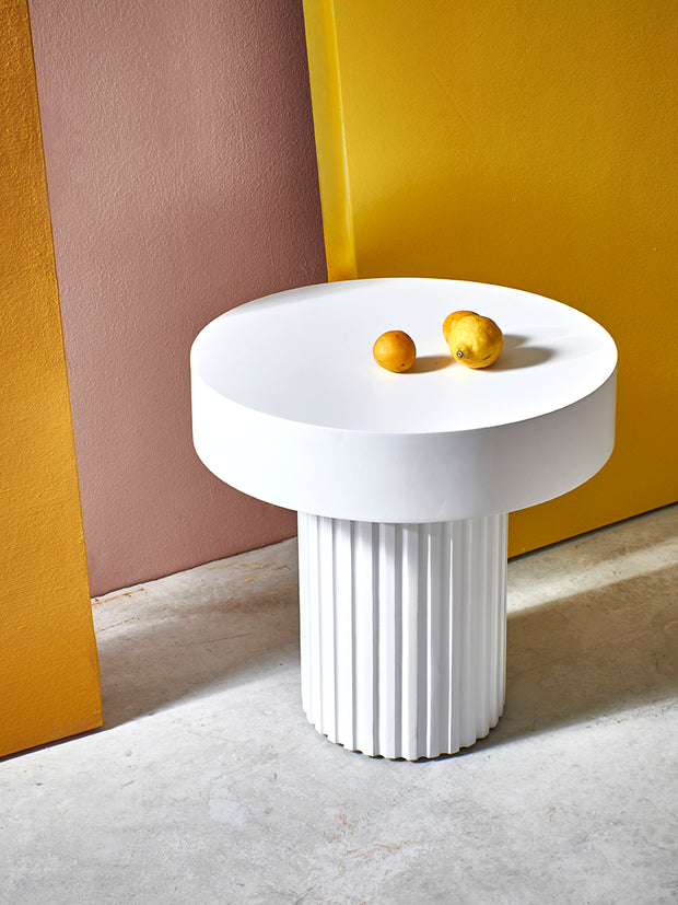 Pillar Coffee Table Round White