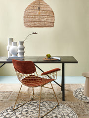 HK Living | Wire Chair With Arms Comfort Kit Velvet Terra | House of Orange Melbourne