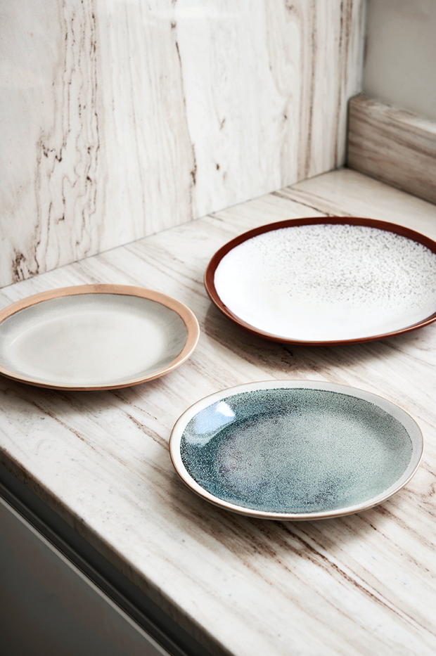 HK Living | Ceramic 70's Dinner Plate: Frost | House of Orange Melbourne