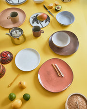 Speckled Ceramic Tray Peach