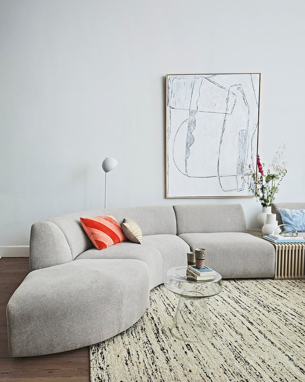jax couch: element round, sneak, light grey