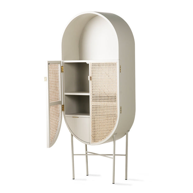 HK Living | Retro Webbing Oval Cabinet grey/green | House of Orange Melbourne