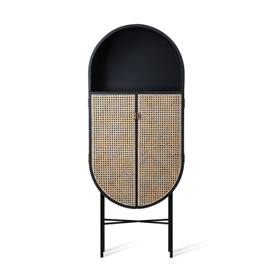 HK Living | Retro Webbing Oval Cabinet Black | House of Orange Melbourne
