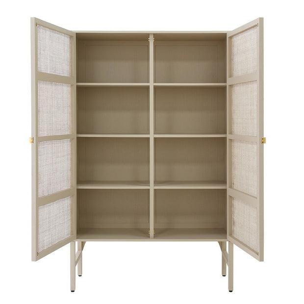 retro webbing cabinet sand with shelves