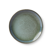 HK Old | 70's Ceramic Dessert Plate - Moss | House of Orange Melbourne