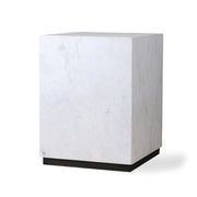 HK Living | White Marble Block Table M | House of Orange Melbourne