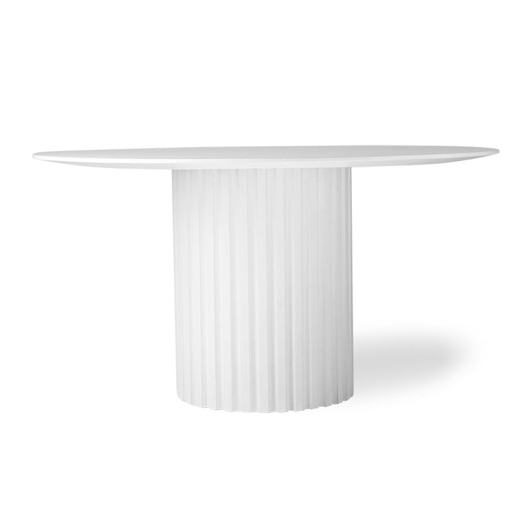 HK Living | Dining Table | Pillar Round White | HK Living | House of Orange Melbourne