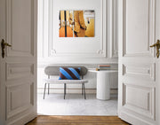 Pillar Side Table Round White