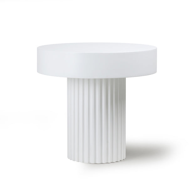 HK Living | Coffee Table | Pillar Round White | HK Living | House of Orange Melbourne